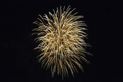 Fireworks Display on Smuggler`s Night 2, Rottingdean, East Sussex, UK royalty free stock photo