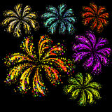 Fireworks display. Vector illustration  Royalty Free Stock Photography