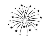 Fireworks display on white. Detailed and accurate illustration of fireworks display on white Royalty Free Stock Image