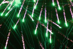 Fireworks in Echuca Stock Image