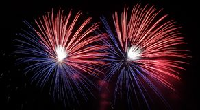 Fireworks Estes Park, Colorado stock images