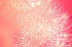 Fireworks in the evening sky. Royalty Free Stock Photography