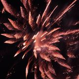Fireworks in the evening sky. Royalty Free Stock Photos