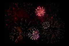 Fireworks party event royalty free stock photography