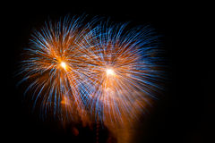 Fireworks. During the event of La Merce in Barcelona Spain Stock Photos