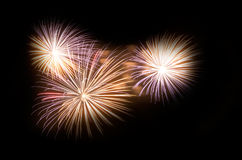 Fireworks. During the event of La Merce in Barcelona Spain Royalty Free Stock Photo