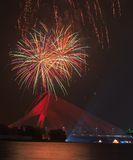 Fireworks event at Putrajaya, Malaysia Royalty Free Stock Photo