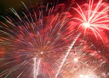 Fireworks explode Royalty Free Stock Photo