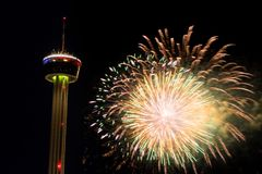Fieesta San Antonio Opening Night Celebration Stock Image