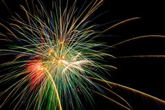 Fireworks explodes Royalty Free Stock Photo