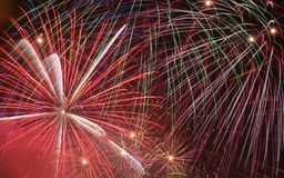 Fireworks exploding Stock Images