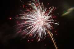 Fireworks exploding at night Stock Photography