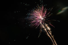 Fireworks exploding at night Royalty Free Stock Photography