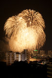 Fireworks Exploding at Pattaya Stock Photo