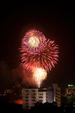 Fireworks Exploding at Pattaya Royalty Free Stock Photo