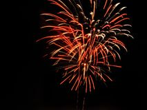 Fireworks exploding in sky royalty free stock photography