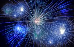 Fireworks exploding in sky Royalty Free Stock Photo