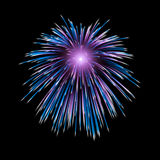 Fireworks exploding in sky. Illustration of colorful fireworks exploding in night sky Stock Images