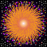 Fireworks explosion. Bright Abstract festive fireworks explosion Stock Photos