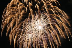 Fireworks Explosion. A triple boom firework explosion Stock Images