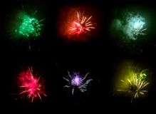Fireworks explosion Stock Image