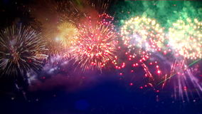 Fireworks explosion festival stock video footage