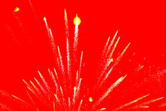 Fireworks on red background. Fireworks explosion on red background Royalty Free Stock Photo