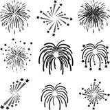 Fireworks, explosion, template, collection. Fireworks and Explosion templates, Fireworks collection Royalty Free Stock Photo