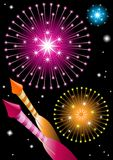 Fireworks and explosions Royalty Free Stock Images