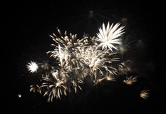 Fireworks at F1 Circuit Bahrain Royalty Free Stock Image
