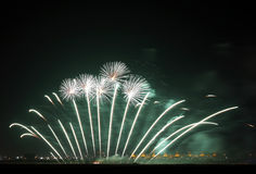 Fireworks at F1 Circuit Bahrain Royalty Free Stock Photography