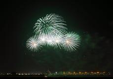 Fireworks at F1 Circuit Bahrain Stock Photo