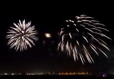 Fireworks at F1 Circuit Bahrain Royalty Free Stock Photo