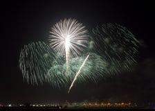 Fireworks at F1 Circuit Bahrain Royalty Free Stock Photos