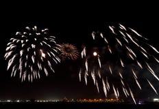 Fireworks at F1 Circuit Bahrain Stock Image