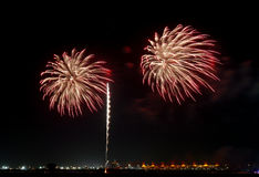 Fireworks at F1 Circuit Royalty Free Stock Photos