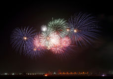 Fireworks at F1 circuit Royalty Free Stock Image