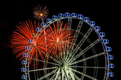 Fireworks at the fair Royalty Free Stock Image