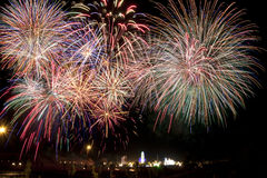Fireworks and fair Royalty Free Stock Photography