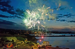 Fireworks in Feodosia Stock Photo