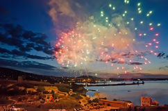 Fireworks in Feodosia Stock Photography