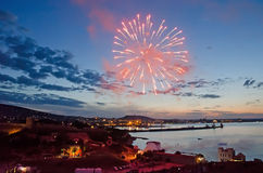 Fireworks in Feodosia Royalty Free Stock Photo