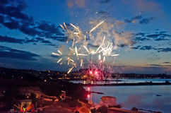 Fireworks in Feodosia Royalty Free Stock Images