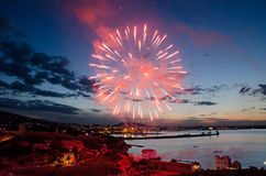 Fireworks in Feodosia Stock Photos