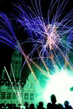 Fireworks festival. Violent and colorful fireworks action, fireworks during the international fireworks festival 'leuven in scene Royalty Free Stock Photos