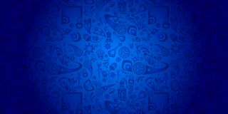 2018 Soccer World Cup Competition RUSSIA FOOTBALL. Abstract blue pattern with soccer fan people, championship sports, award cup, goal, soccer ball, world Stock Photo