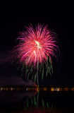 Fireworks festival in the day. Stock Photo