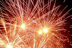 Fireworks. On festival on Diwali in India royalty free stock photography
