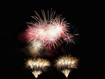 Fireworks festival. End of festivities of my little city Royalty Free Stock Images