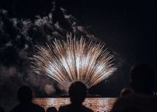 Fireworks Festival Head stock photo